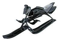 Детский снегоход «Спорт Люкс» black (размер 126*50*39 см) ТМ KIDIGO Черный SB-Sled-07 black