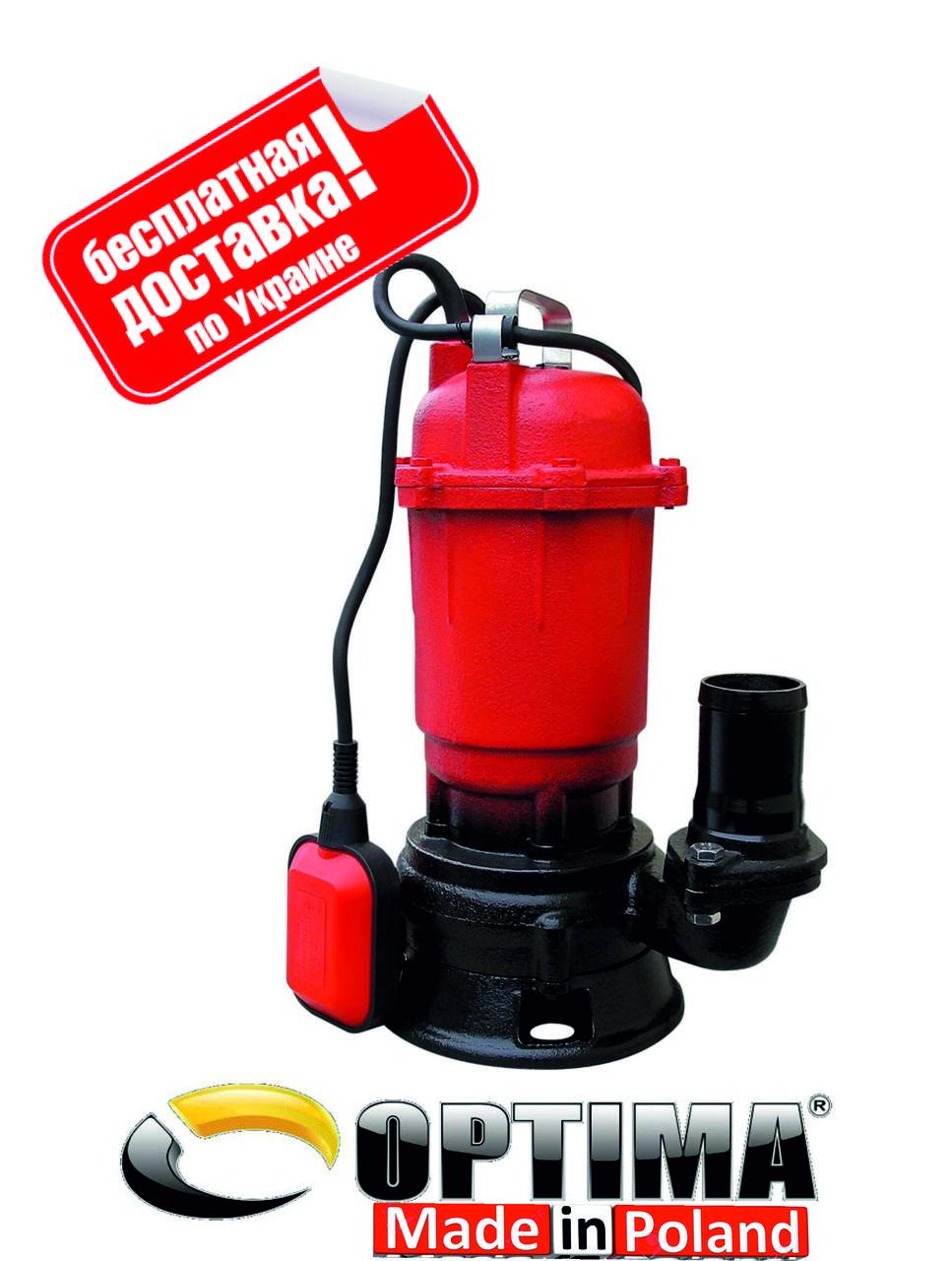 Насос фекальный Optima WQD15-15 1.5 кВт