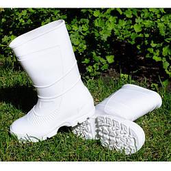 Сапоги силиконовые резиновые унисекс Белые