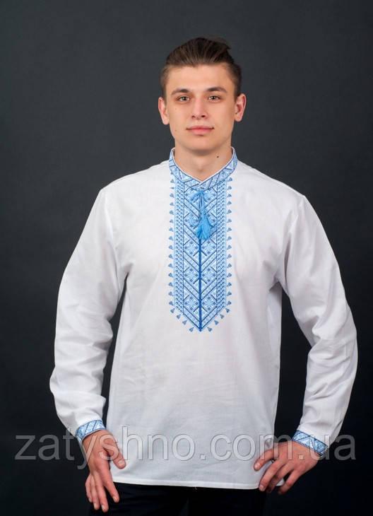 Белая вышитая мужская рубашка