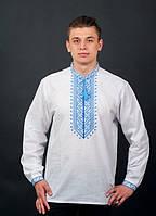 Белая вышитая мужская рубашка, фото 1
