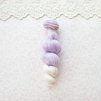 Волосы для кукол локоны в трессах, омбре белый с сиренью - 15 см