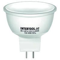 Светодиодная лампа LED 5Вт, GU5.3, 5Вт, 220В, INTERTOOL LL-0202