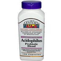 Ацидофилус (пробиотик) 150 капс восстановление микрофлоры кишечника, лечение дисбактериоза 21-й век