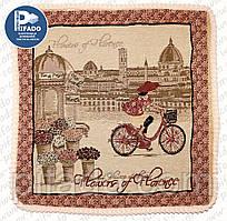 Декоративна наволочка з вишивкою PARIS (гобелен) 48х48. Модель HD01-19