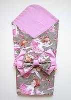 """Летний конверт-одеяло на выписку """"Балерины"""" без утеплителя"""