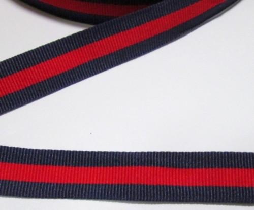 Тесьма / лента 2 см, красно-синяя