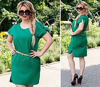 Платье с поясом, модель 815, Цвет  Зеленый, фото 1