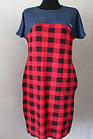 Платье женское клеточка красное