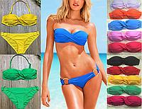 Раздельный женский купальник восьмёрка  пуш-ап реплика Victoria Secret, фото 1