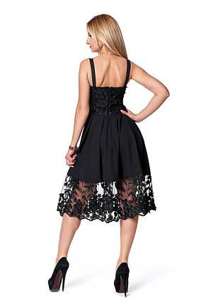 Жіноча коктейльне плаття гіпюр з відкритою спинкою, фото 3