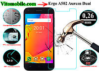 Защитное стекло Ergo A502 Aurum Dual Sim / 2,5D / олеофобное покрытие