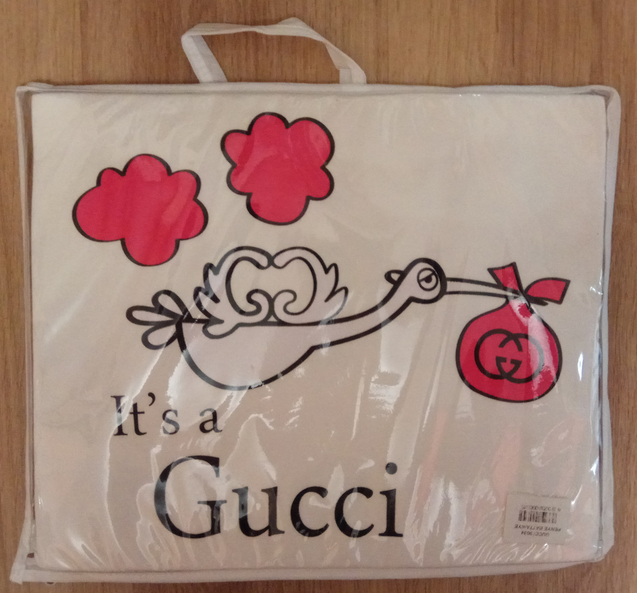 Плед для новорожденного с уголком, Gucci