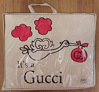 Плед для новорожденного с уголком, Gucci, фото 1