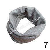 Трикотажный шарф хомут Серый