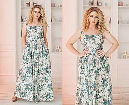 Летнее льняное платье в пол, фото 3