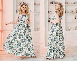 Летнее льняное платье в пол, фото 2