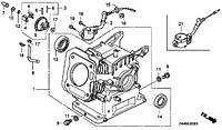 Інструкция по ремонту двигунів Honda GX120 Honda GX160 Honda GX200 168f та інших аналогів потужністю 2.9 кВт(4 л.с.) 4кВт(5.5 л.с.) і 4.8 кВт(6.5л.с)