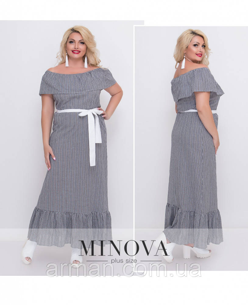 """Платье """" Волан"""" - Размер ( (42-44), 2 (46-48), 3 (50-52), 4 (54-56))"""