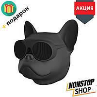 Колонка портативная беспроводная Bluetooth S3 dog «CoolDog Французский Бульдог»  в виде собаки Черный, bluetooth колонка