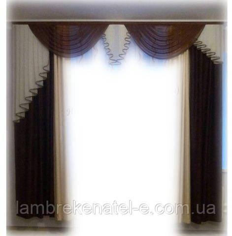 Комплект ламбрекен со шторами