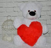 """Великий плюшевий ведмедик """"Бублик"""" (110 див.) з серцем (37 див.)"""