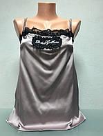 Шелковый топ в стиле Dolce&Gabbana розовый с кружевом, фото 1