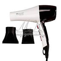 Профессиональный фен Salon Professional 8345 (2300 W) цвет белый/бардо