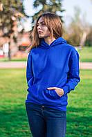 Толстовка женская с капюшоном, ярко синяя худи JHK T-shirt (Испания), размеры S - XXL