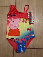 Красивый сдельный купальник для девочек розовый