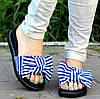 Шлепки =Style= с синей полоской, р 36, 37