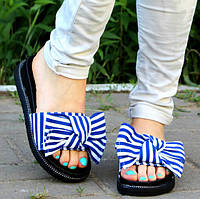 Шлепки =Style= с синей полоской, р 36, 37, фото 1