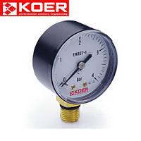 Манометр радиальный 0-10 bar Koer KM.502R D=50 мм 1/4''