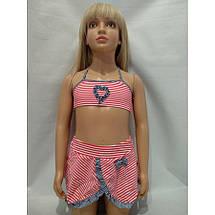Купальник для девочек с юбкой на наши 28 30 32 34 36 размеры, фото 2