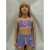 Купальник для девочек с юбкой на наши 28 30 32 34 36 размеры, фото 3