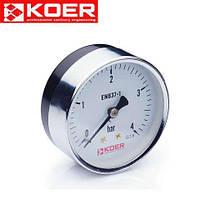 Манометр аксиальный 0-4 bar Koer KM.611A D=63 мм 1/4''
