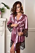 Модный женский халат с кружевом Фрез