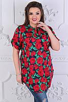 Блуза женская в большом размере, фото 1