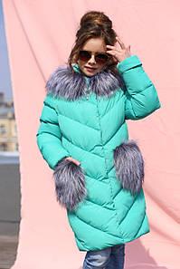 Детское зимнее пальто на девочку Банни