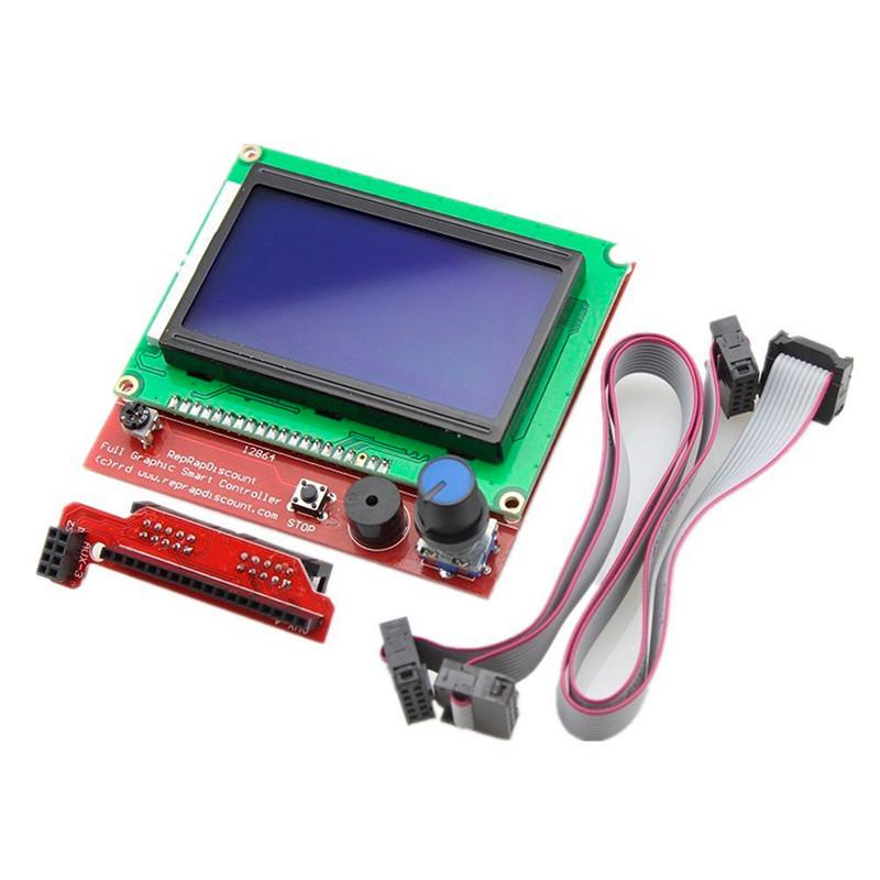 Модуль экрана 12864 с картридером SD карт и кабелем подключения