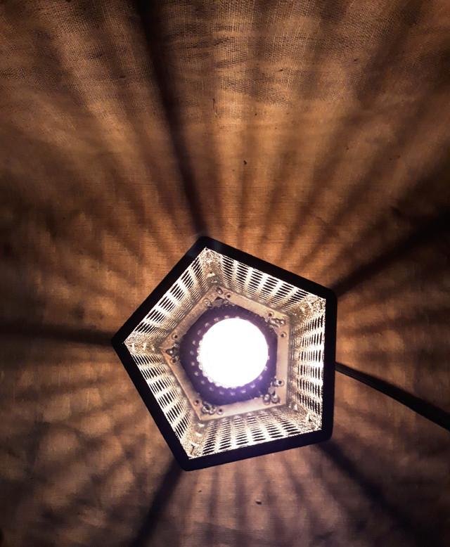 лофт светильник  пятигранный