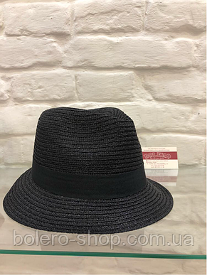 Женская шляпа черная с люрексом Италия, фото 2