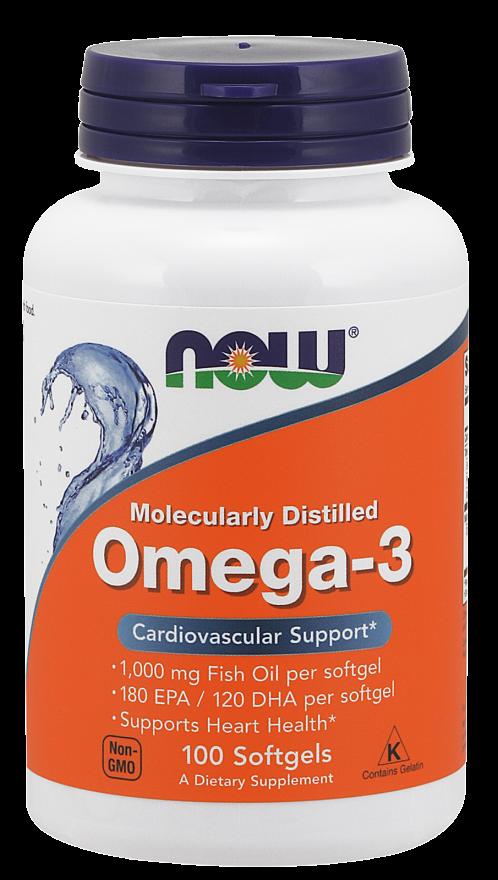 Рыбий жир NOW Omega-3 100 softgels