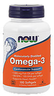 Рыбий жир NOW Omega-3 100 softgels