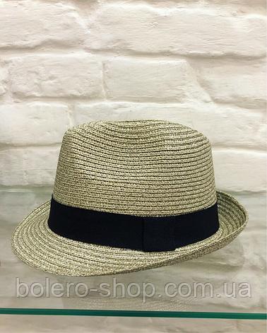 Женская шляпа золотая с люрексом Италия, фото 2