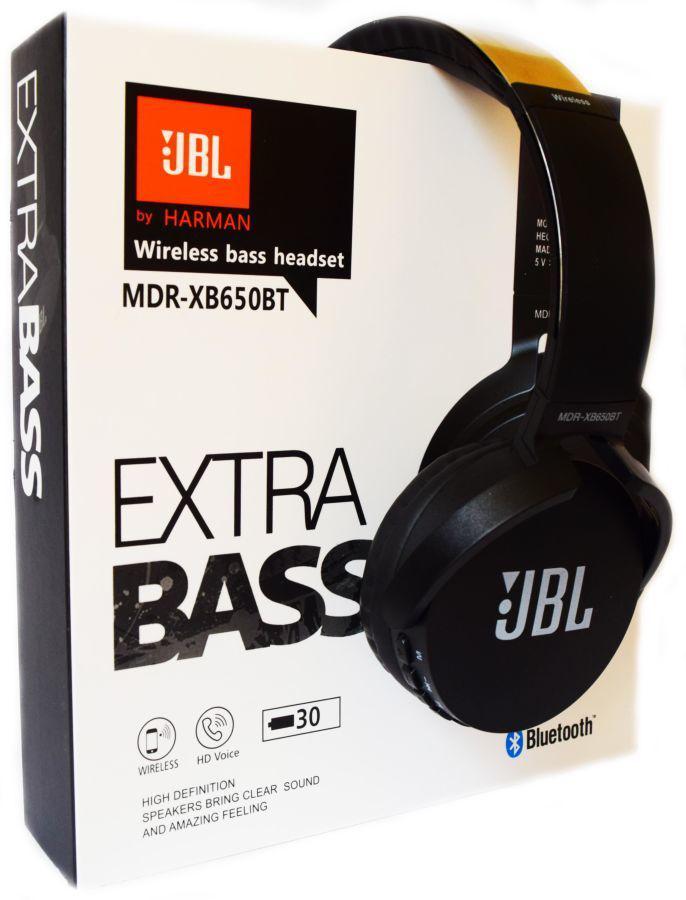 БЕСПРОВОДНЫЕ Наушники JBL MDR-XB650BT Extra Bass