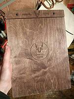 Деревянное меню планшет. Для бара, паба