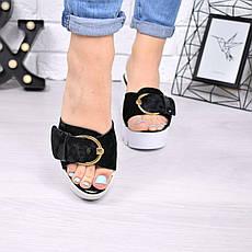"""Шлепки, тапки, сланцы, """"Peli"""" велюр, летняя, повседневная обувь шлепки женские, фото 3"""