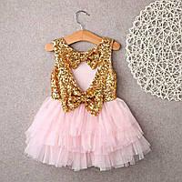 """Платье для девочки """"Кокетка"""" Золотистый"""