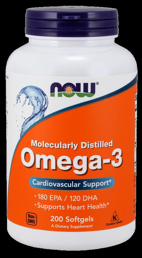 Рыбий жир NOW Omega-3 200 softgels